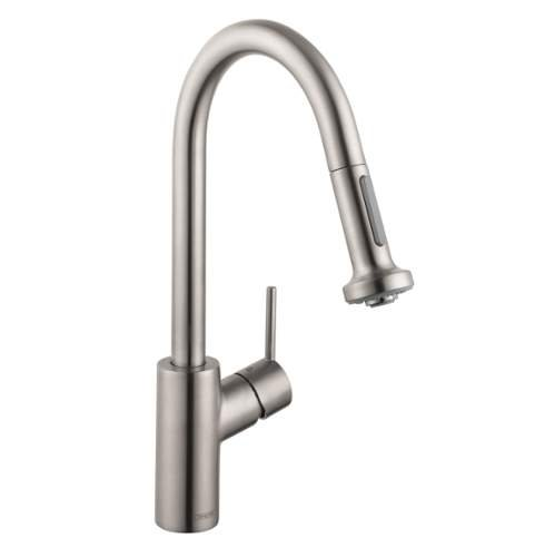 Hansgrohe 14877801 Talis S 2 Kitchen Faucet with Pull Down 2 Sprayer, Steel Optik (Talis Kitchen Faucet compare prices)