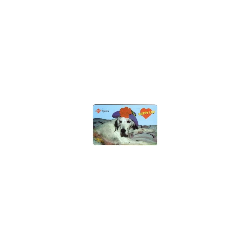Collectible Phone Card $3. Puppy Luv English Setter Dog Prince of Wales Test Prototype