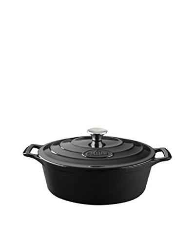 La Cuisine Pro Range Slate Black 6.75-Qt. Oval Casserole