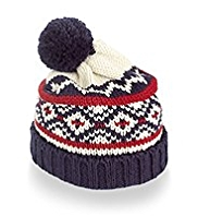 Nordic Knitted Bobble Hat