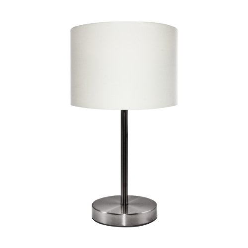 Ledu slim line table lamp with white linen shade 126 for 6 inch table lamp