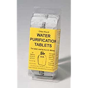 Chlor-Floc Water Purificiation GI Issue Pure Powder Packets