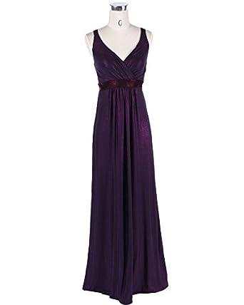 Medeshe Purple Long Bridesmaid Maxi Dress Gowns at Amazon