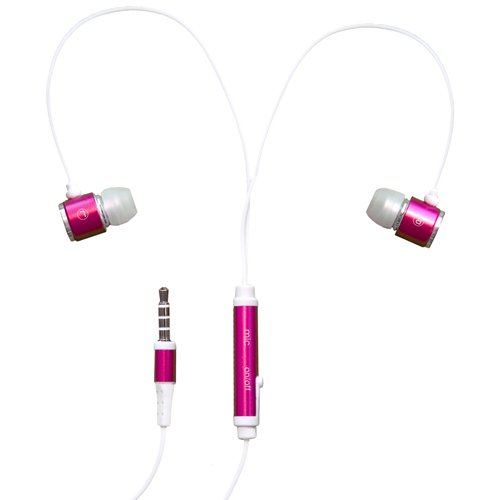 Rnd Noise Reducing Ear Buds With Built-In Microphone (Pink)