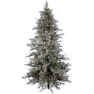 """Vickerman 18037 - 9' X 62"""" Frosted Wistler Fir 765 Led Warm White Lights Christmas Tree (A100781Led)"""