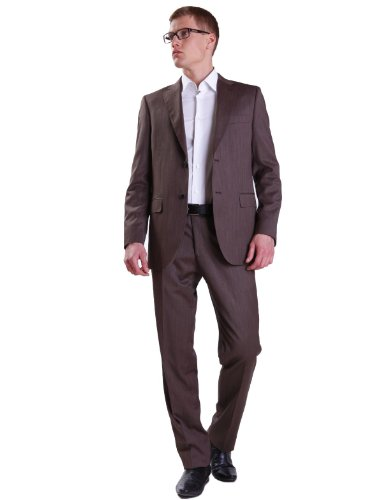 Alberto Cabale X2-807136 4 Straight Brown Man Suits Men - T56-48