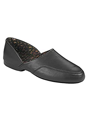 Dr. Scholl's Men's Slippers - Closed Back Black, Size 08 W