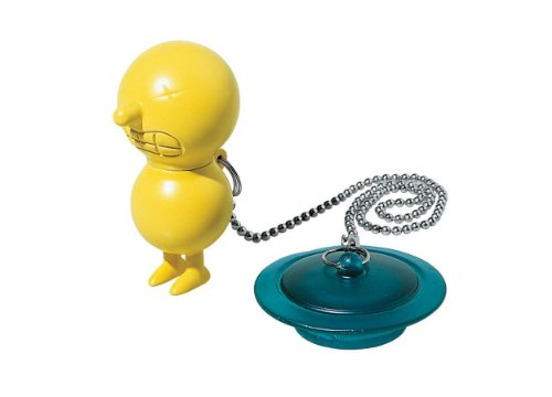 A di Alessi Mr. Suicide Bathtub Plug, Yellow, (AMGI02 Y)