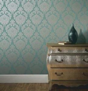 Arthouse Vintage Astoria Wallpaper - Aqua by New A-Brend