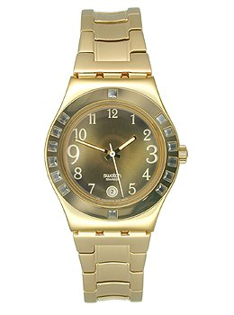 Swatch Women's YLG404G Fancy Me Gold Dial and Bracelet Watch
