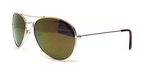 Gold Aviator Sunglasses Green Iridium Lenses AI-01 ia ai