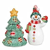 Fitz And Floyd Snowflake And Jake Salt And Pepper Set