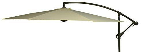 beo Sonnenschirme wasserabweisend mit Standfuß Sonnenschutz, rund, Durchmesser 300 cm, beige
