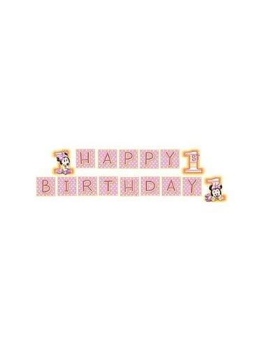 Hallmark Minnie's 1st Birthday Plastic Banner