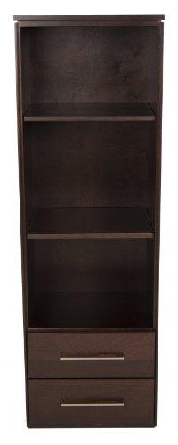 Offspring York 2 Drawer Bookcase, Vintage front-960963