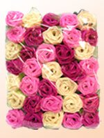 Roses Light Set (Multi Colors) with White Cord for Birthday Party Decorating, Garden Party Decorations or Wedding Lights Product of Thailand