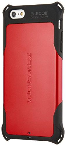 ELECOM iPhone6S Plus iPhone6 Plus ZEROSHOCKケース レッド PM-A14LZERORD