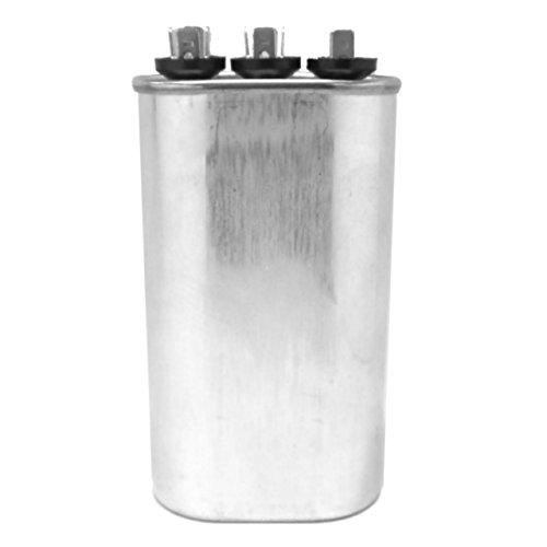 Capacitor 35+5 Mfd 440 Vac Oval Onetrip Parts® Direct Replacement For Rheem Ruud Weatherking 43-25135-18 front-609393