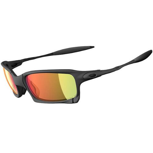 Oakley X-Squared Men's Active Racewear Sunglasses – Color: X-Metal/Ruby Iridium