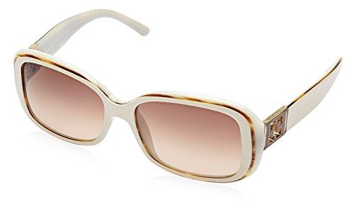 Escada Escada Rectangular Sunglasses (Cream) (SES 133 0908 57) (Yellow)