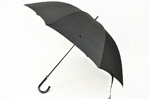 バーバリー BURBERRY メンズ ボーダー ラインが素敵な 日傘/ グレー系 紳士 ブランド傘 傘 かさ
