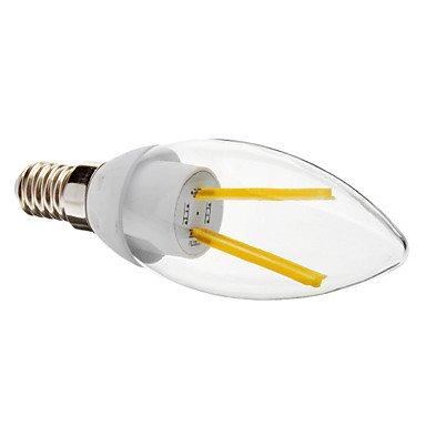 M.M E14 2W 3000 Warm White Light Led Transparent Candle Bulb (230V)