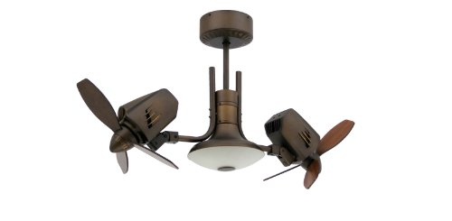 TroposAir Mustang II 18 in. Dual Motor Oscillating Indoor/Outdoor Rubbed Bronze Ceiling Fan (Outdoor Dual Head Ceiling Fan compare prices)