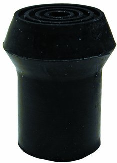Embout de canne en caoutchouc, avec métal incrusté, diam intérieur 19mm