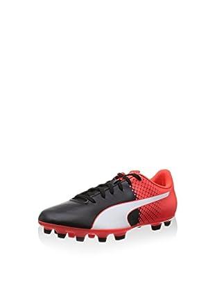 Puma Botas de fútbol Evospeed 5.5 Tricks Ag (Negro / Blanco / Rojo)