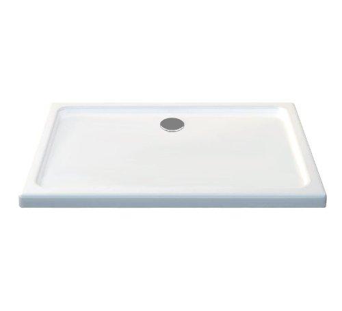 Duschtasse 100x80 - Extra flach, Rechteckig, Weiß