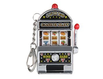 Actopus Mini Toy Slot Machine Keychain Fruit Mahines Toys Random Color Bingo Game