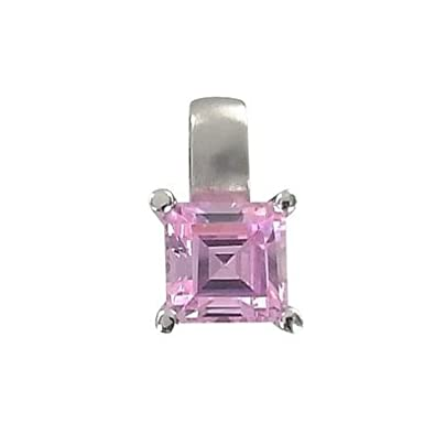 Pendant - White Gold, Pink, Cubic Zirconia