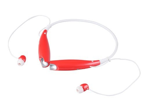 Red Wireless Bluetooth Hv-800 Neckband Sport Stereo Universal Headset Headphone