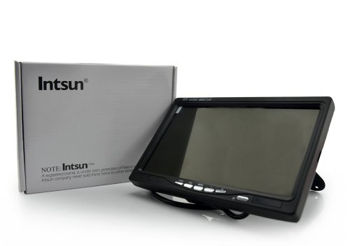 Intsun® 7 Inch Tft Color Lcd Car Rear View Camera Monitor Support Rotating The Screen And 2 Av Inputs + 1 Touch Screen Pen