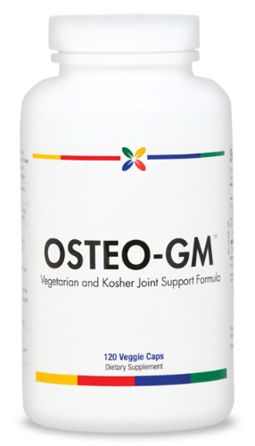 Osteo-Gm Vegetarian & Kosher Glucosamine (1500 Mg) With Msm (1200 Mg) | 120 Veggie Caps. Made Usa (3 Pack ($17.95 Per Bottle))