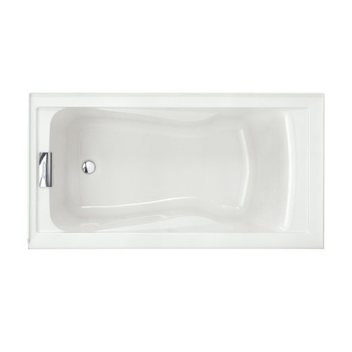 American Standard 2425V-LHO002.020 Evolution 5-Feet by 32-Inch Deep-Soak Bathtub with Apron Left Hand Drain Outlet, White (Metal Soaking Tub compare prices)