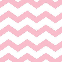Pastel Pink Chevrons Printed Lunch Napkins