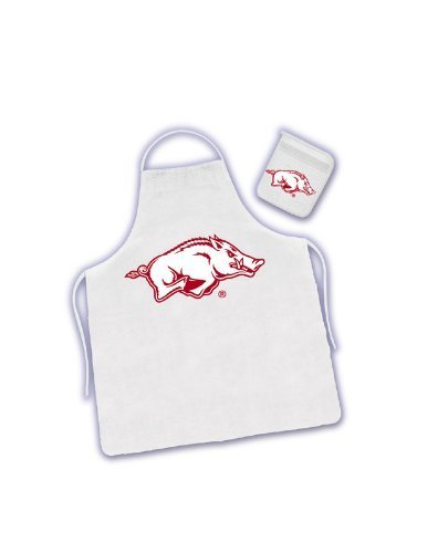 Arkansas Razorbacks Tailgater Apron and Mitt Set