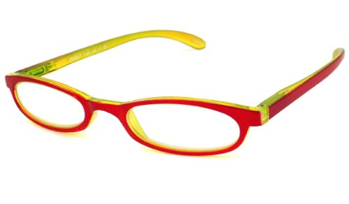 NVU Eyewear Half Readers (Women) Reading Glasses - F Train Red / F TRAIN RED +1.25