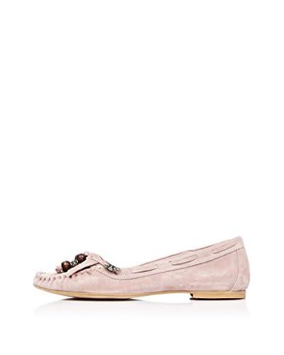 Bueno Shoes Mocasines Flecos y Borlas