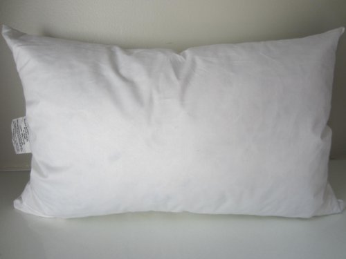 "Find Cheap Bed of Roses 12"" X 18"" 95% Feather 5% Down Pillow Insert - Made in USA"