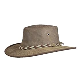 Barmah 1018 Squashy Roo Kangaroo Leather Hat - Brown, Limestone, or Hickorystone