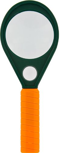 SE MD258 2-Inch, 5/8-Inch and 2-Inch Dual Power Handheld Magnifier