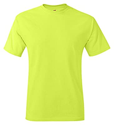 Hanes Adult Tagless® T-Shirt - Safety Green (60/40) - 2XL