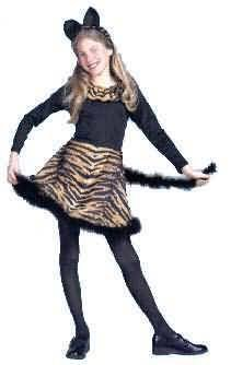 Girl's Little Cat Costume Cute Animal Print Costume Dress