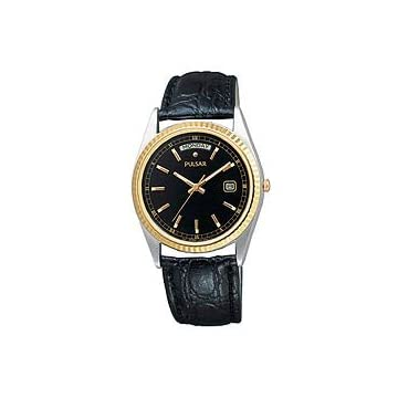 Pulsar Men's Leather Strap watch #PVM012S