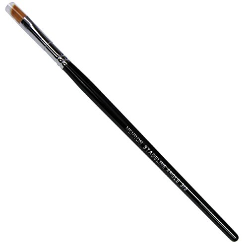 Mehron Stageline Golden Nylon 1/4-inch Angled Makeup Brush