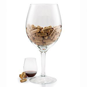 Wine Enthusiast Oversized Wine Glass Cork