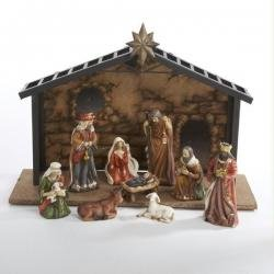 10-Piece Classical Porcelain Christmas Nativity Manger Table Set 5