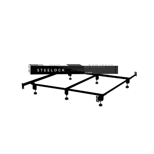 Structures By Malouf® Steelock Headboard-Footboard Super Duty Steel Wedge Lock Metal Bed Frame With Adjustable Height Glides - Functions As Bed Rails - Lifetime Warranty front-696057